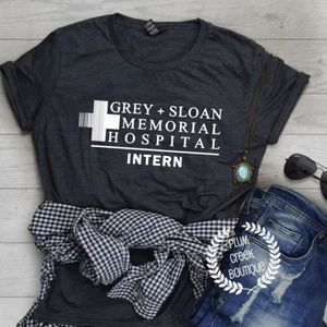 Greys Anatomy Intern TShirt - Pop Art TV Tees NEW
